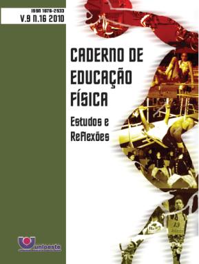 Visualizar V. 9, N. 16, 2010   Caderno de Educação Física
