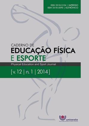 Visualizar v. 12 n. 1 (2014): Caderno de Educação Física e Esporte