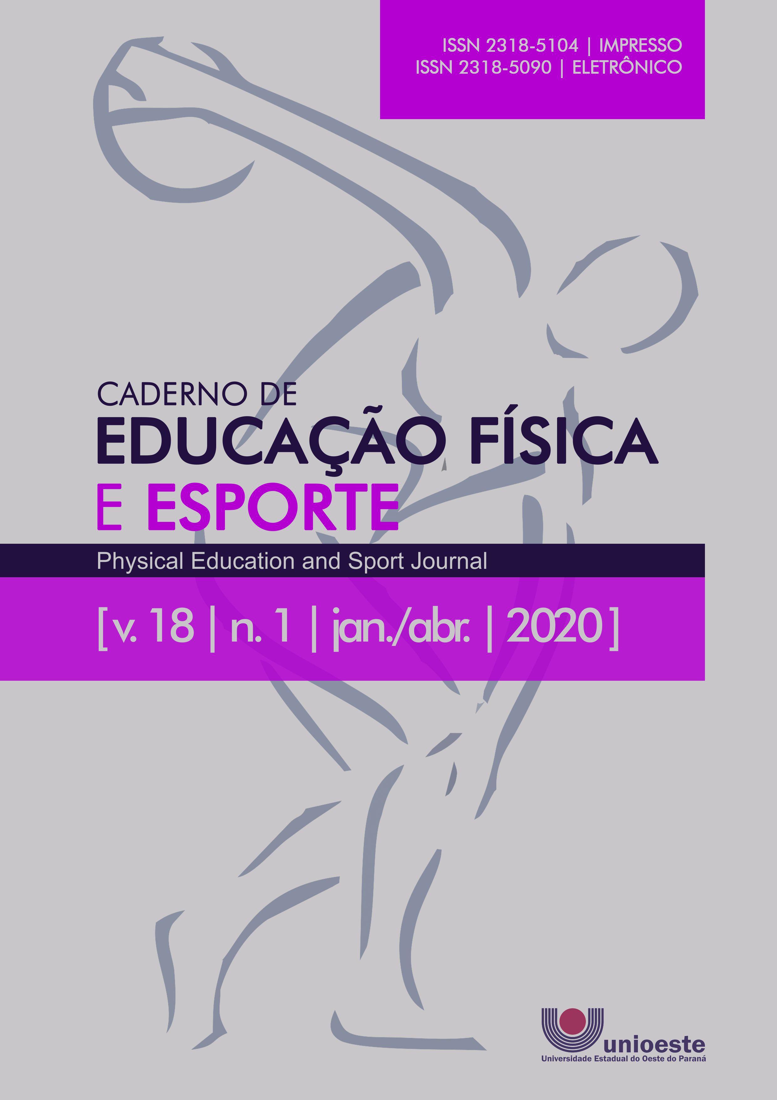 Visualizar v. 18 n. 1 (2020): Caderno de Educação Física e Esporte
