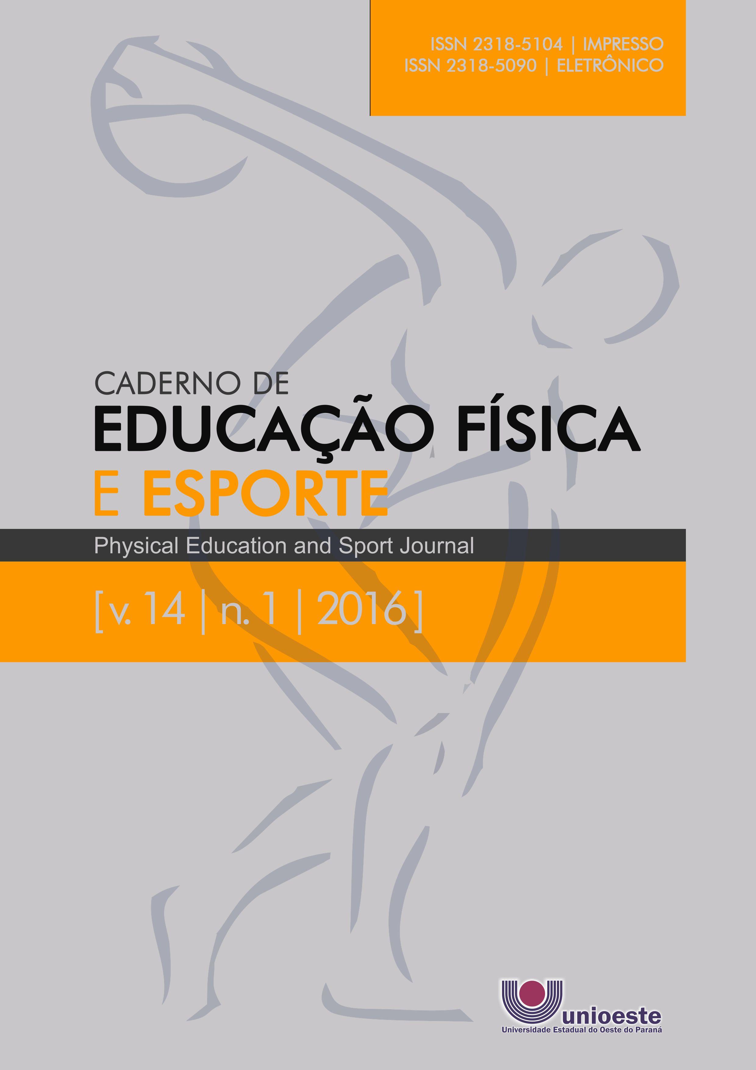Visualizar v. 14 n. 1 (2016): Caderno de Educação Física e Esporte