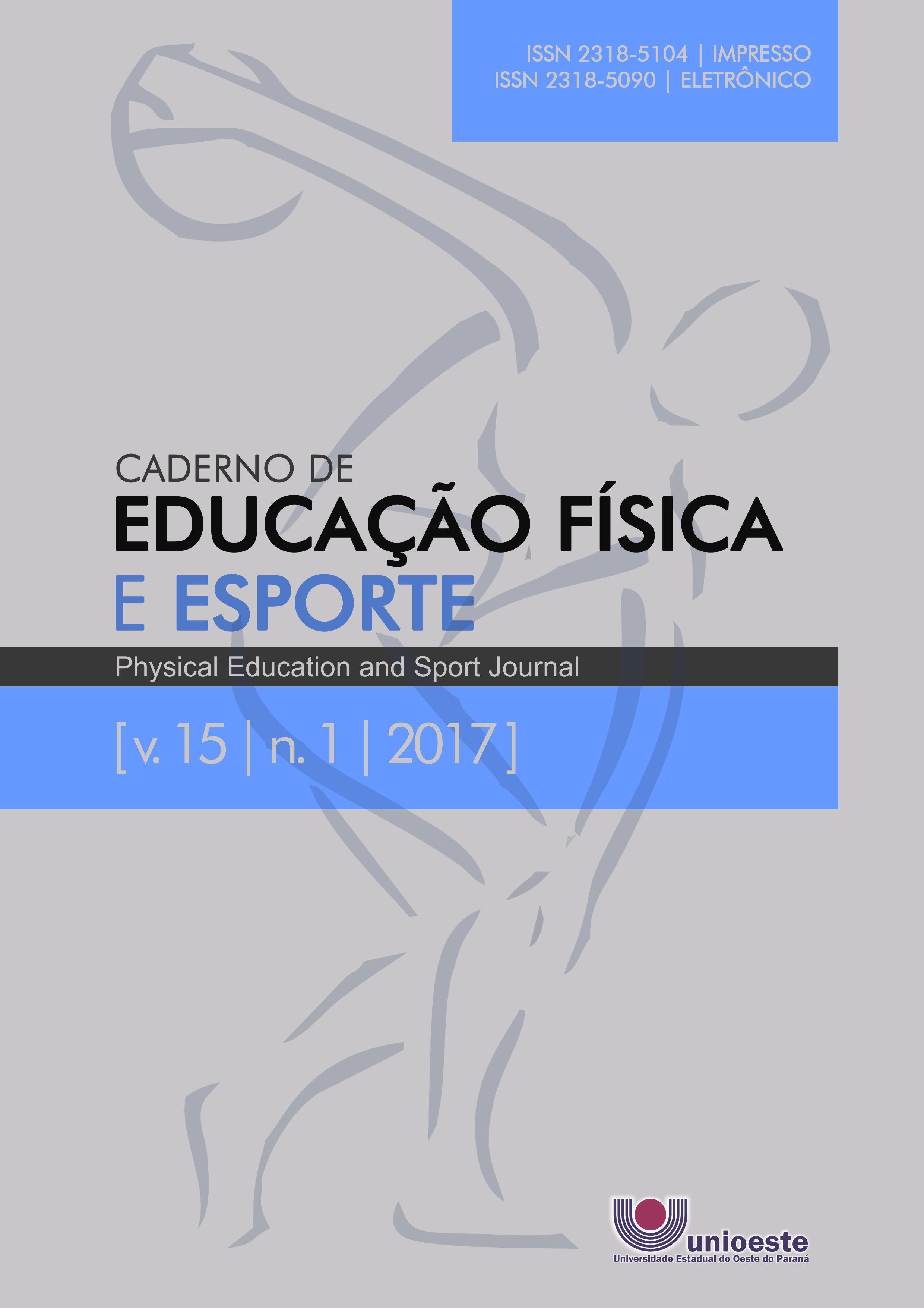 Visualizar v. 15 n. 1 (2017): Caderno de Educação Física e Esporte