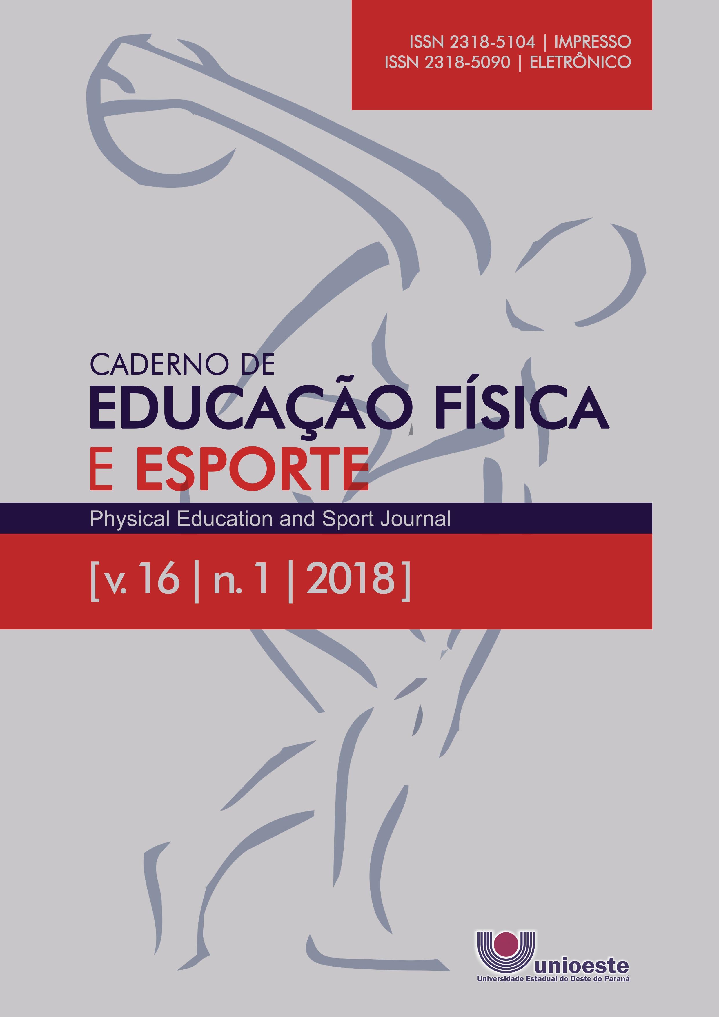 Visualizar v. 16 n. 1 (2018): Caderno de Educação Física e Esporte